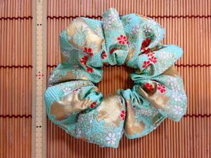 金襴-花柄-さやがた-雪輪-エメラルドグリーン.JPG